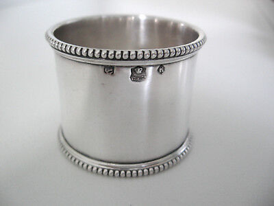 Beaded Continental Sterling silver napkin ring. No monogram. Probably French