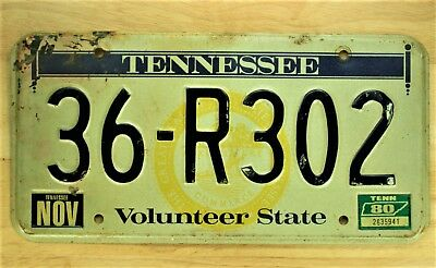 1980 Tennessee Volunteer State License Plate  Auto Car Vehicle Tag #1435