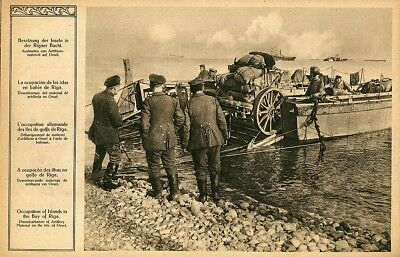 .Vintage Picture German Army in Latvia,Riga Bay,ww1