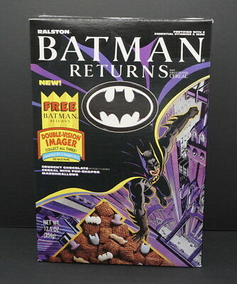 Batman Returns Cereal Box with Double-Vision Imager on back   #2 1992