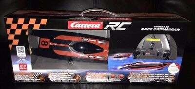 NEW Carrera RC Catamaran Boat 12 Inch 10 KM/Hr 2.4 ghz w Turbo Charger Christmas