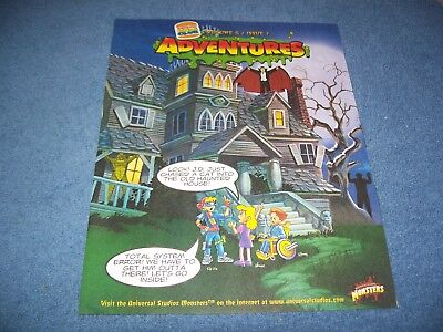 1997 Burger King Universal Monsters Kids Club Adventures Leaflet Vol 8 Issue 7