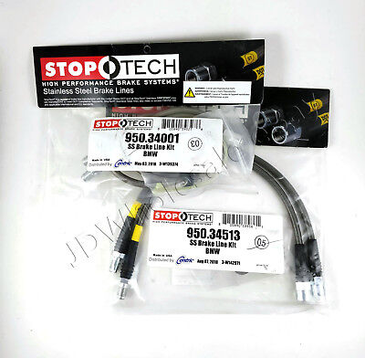 FRONT REAR STAINLESS STEEL BRAKE LINE KIT FOR 06-08 BMW Z4 M STOPTECH