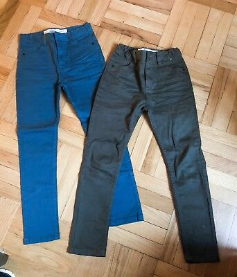 2 Pairs Of Boys Jeans Skinny Fit Size 9-10 140cm