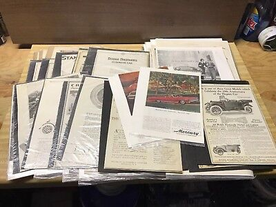 Huge Lot Of Vintage Car Ads, Cadillac, Lincoln, Mercury, Packard, Dodge, More