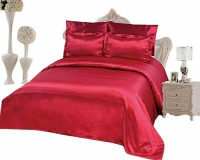 6 PCS Duvet Cover Set, Supreme Quality Sexy Silky Satin,Duvet Cover Fitted Sheet