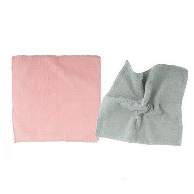 2x Towel Professional Cotton Thick Terry Kitchen Bars Restaurant Gray + Pink