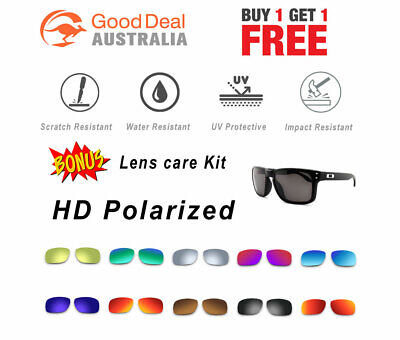 2 x Polarized Replacement Lenses For-Oakley Holbrook 9102 Sunglasses Premium HD