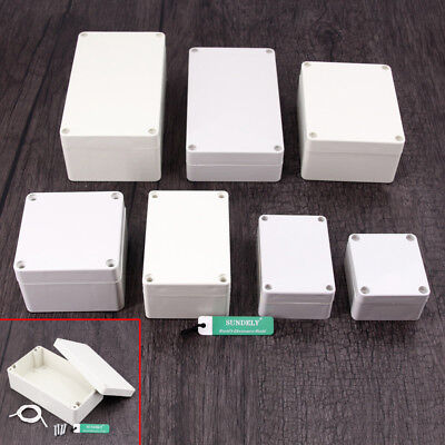 Various Sizes ABS Plastic Junction Box Universal Electric Project Enclosure Gray