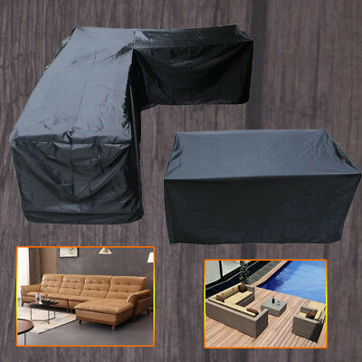 High Quality L Shape Corner Outdoor Sofa Patio Garden Furniture Cover Waterproof