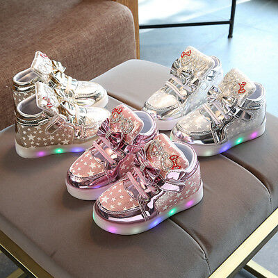 Boys Girl's Light Up LED Shoes For Baby Toddler And Youth Kids Athletic Sneakers