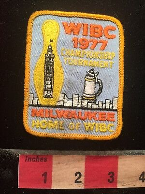 Vtg 1977 Milwaukee Wisconsin WIBC Championship Tournament Bowling Patch 79Y3