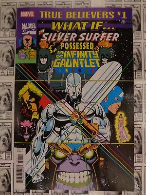 What If (1989) Marvel - #49, True Believers 2018 Reprint, Infinity Gauntlet, NM