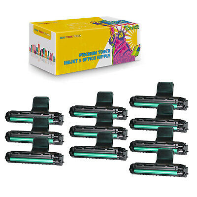 10Pcs Compatible MLT-D108S Black Toner Cartridge for Samsung ML-1640 ML-2240