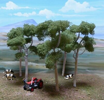 AUSTRALIAN MODEL GHOST GUM TREES  FINE SCALE. Set of 5