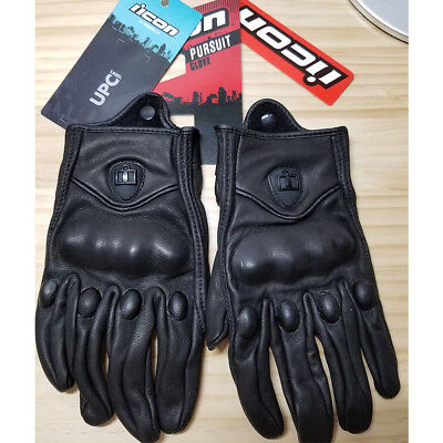 Fashion Icon Pursuit Gloves Motorcycle Street Riding Leather Men's Gloves NEW