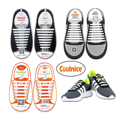 4 pack NEW Genuine Coolnice No Tie Shoelaces Elastic 100/% Silicone For Kids