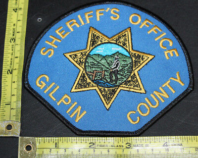 Gilpin County Colorado Sheriff's Police Department Shoulder Patch