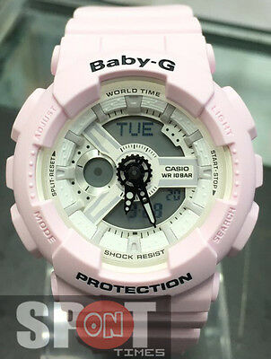 98202e658b3c CASIO WOMEN'S BA110BE-4A 'Baby-G' Analog-Digital Pink Resin Watch ...