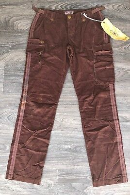 NWT Da Nang Women's Cotton Corduroy Cargo Pants Earth Brown