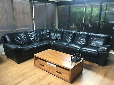 Genuine Leather Sofa Lounge Suite Includes Two Of Three Seaters