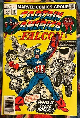 Marvel CAPTAIN AMERICA 215 VF ***$3.98 UNLIMITED SHIPPING***