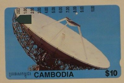 Telstra International $10 Cambodia Satellite dish phonecard prefix 1559 used