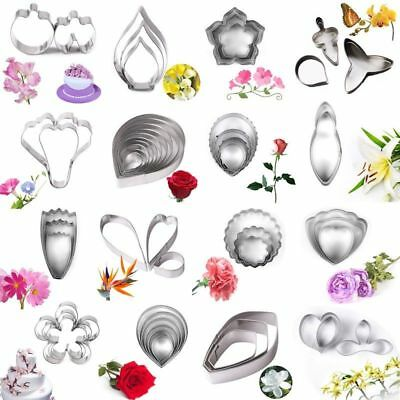 3pcs/set Stainless Steel Flower Leaf Cookie Cutter DIY Fondant Cake Decor Mold X