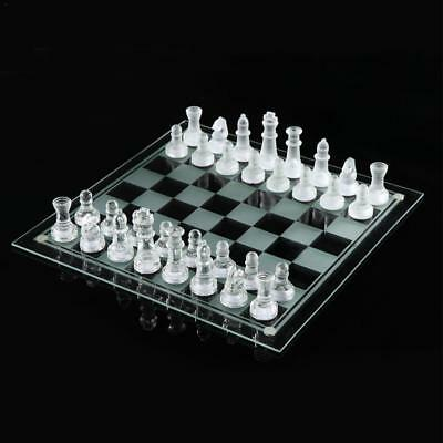 Matte Smooth K9 Glass Chess Set Elegant Pieces and Checker Board Game Frosted