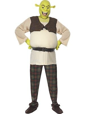 Mens Book week Funny Movie Ogre Licensed Fairytale Shrek Costume  Mask Gloves