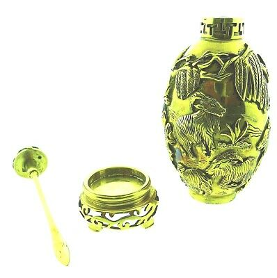 Rare Vintage 18k Yellow Gold Chinese Perfume Snuff Bottle 129.4 Grams