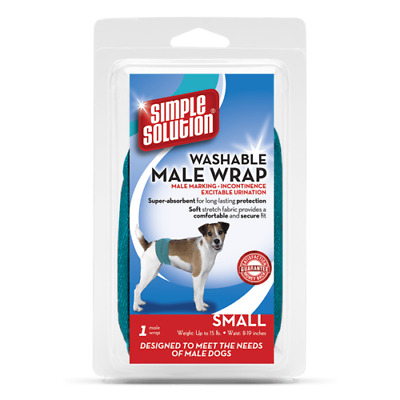 Simple Solution WASHABLE MALE WRAP Dog Incontinence Urine Marking Travel Nappy