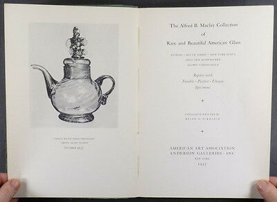 American Antique Blown + Pressed Glass - Maclay 1935 Auction Catalog