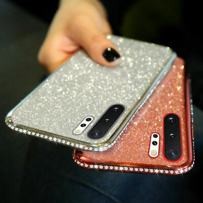 Bling Glitter Plating Soft Silicone Case Cover For Samsung Galaxy Note 9 S9 Plus