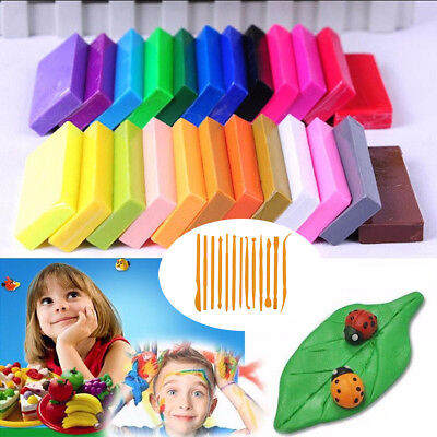 Good 32 Color Oven Bake Polymer Clay Block Modelling Moulding Sculpey Toys E9C