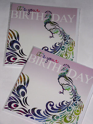 BIRTHDAY CARDS JUST 25p x 12  'TWICE AS NICE' WRAPPED, FOILED, (F10