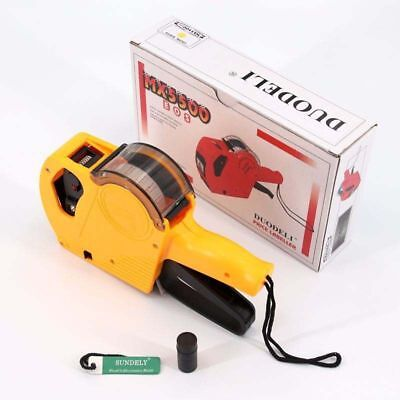 MX5500 8 Digits Price Tag Label Gun Labeler Labeller Retail Price Coder Yellow