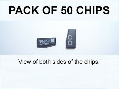 VAUXHALL BLANK CRYPTOGRAPHIC ID40 TRANSPONDER CHIPS - Pack of FIFTY CHIPS.