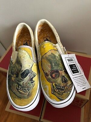 LIMITED EDITION: Vincent Van Gogh SKULL *NEW WITH BOX + TAGS sz 8W, 6.5M*