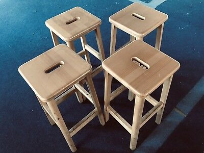 Vintage Wooden School Lab Stools / Chairs- Good for Breakfast Bar, Do-Up Project