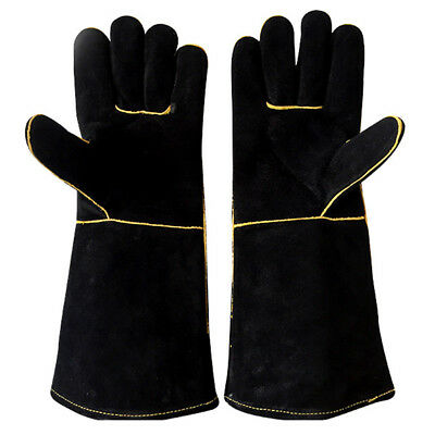 Practical Safety Welding Work Soft Faux Leather Gloves Hand Protection Guard AU