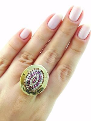 Ottoman Turkish Women Jewelry Antique Sterling Silver Fashion Rings Size 9 R1806