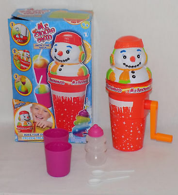 Kids childs age 4 + Mr Snowman Snow Cone Ice Maker Drink cup ice maker crushed