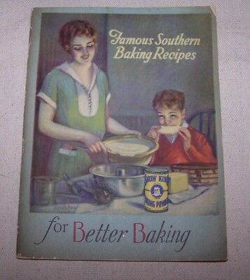 1928 King Baking Powder Famous Southern Recipes Booklet