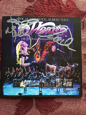 Heart Live at the Royal Hall signed cd siggned booklet Ann and Nancy Wilson
