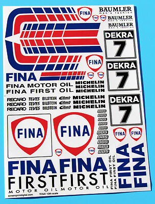 RC 10th 1/10 scale FINA sponsorship stickers decals ideal for BMW M3 HPI TAMIYA
