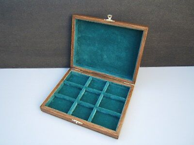 Superb  Edwardian  Antique Oak Jewellery Box - Fab Interior