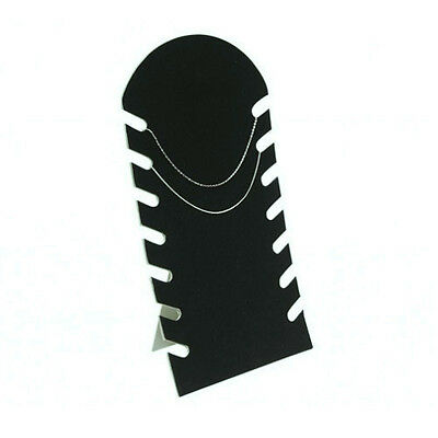 Black Velvet 7 Necklace Jewelry Fixture Display Easel for Counter Top - 2 Pieces