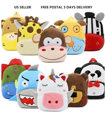 Toddler Backpack Kids Children Boys Girl Cartoon Schoolbag Shoulder Bag