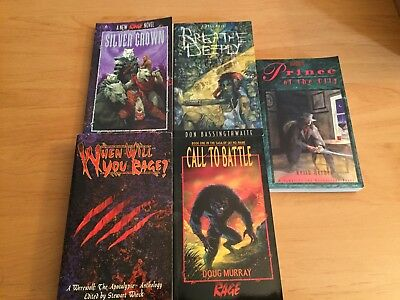 World of Darkness - Rage / Werewolf / Vampire  5 Romane englisch